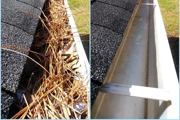 Pine-Needles-full-Gutter-and-clean-gutter
